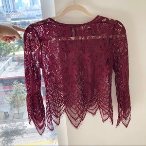 For Love & Lemons Lace Top Dupe